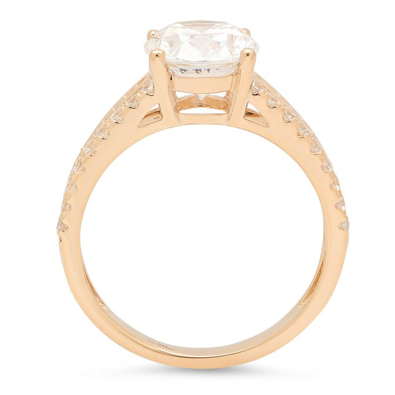 Always Ring Forever Always Forever Ring 2.10 Ct Simulated Oval Cut Wedding Ring Bridal Jewelry Solid 14k Yellow Gold Forever Always Ring