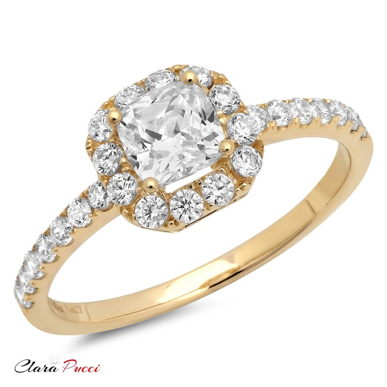 c689b6c3ee9d3 Halo Promise Ring Halo Ring Halo Engagement Ring Halo Ring