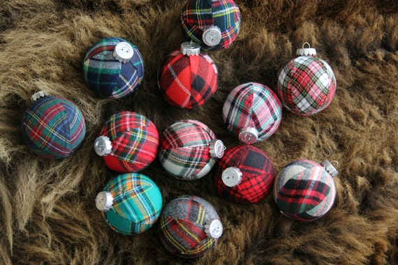 image 0 - Plaid Christmas Ornaments