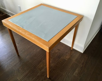 Vintage Folding Card Table Etsy - Mid century modern card table