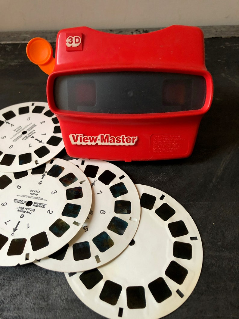 Vintage 1980s 3D VIEW MASTER Red GAF ViewMaster 3-D Viewing image 0