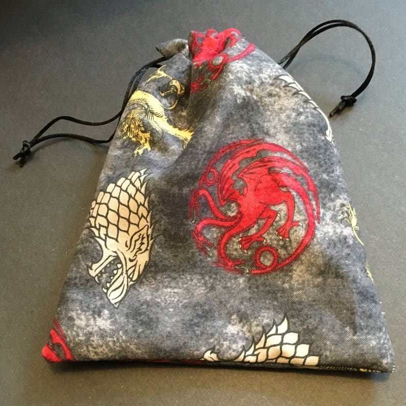 Game of Thrones Great Houses Inspired Drawstring Bag