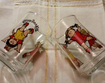 Cabbage Patch Kids Juice Glasses   set of 2