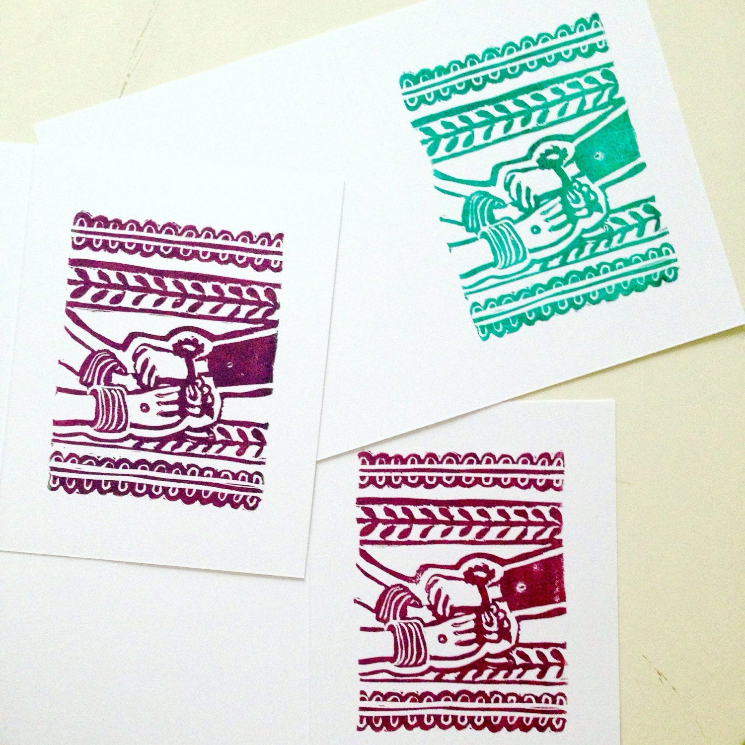 Set Of 3 Handmade Rakhi Cards With Envelopes For Brothers Or Etsy