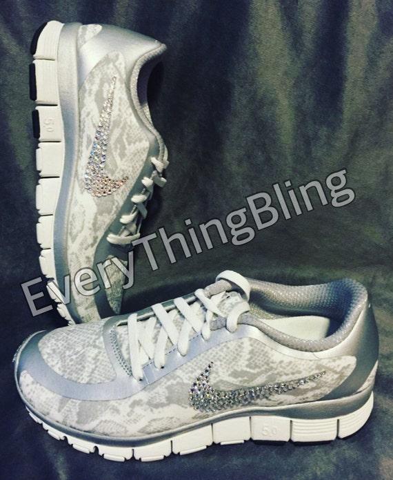 Bling NIKES Custom Swarovski Clear Elements on WOMENS Nike  9f1653a45