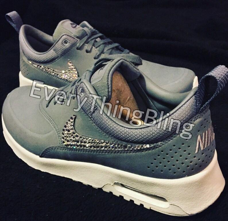 ee2436517ec9ce Custom BLING Nikes Swarovski Elements on Nike AirMax Thea PRM