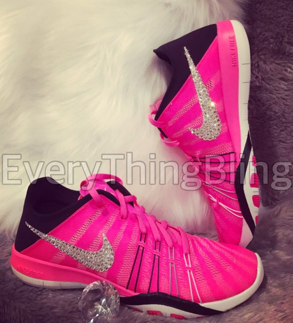 5cfd32e63f662 CUSTOM NIKES Swarovski Clear Crystals Elements Crystals