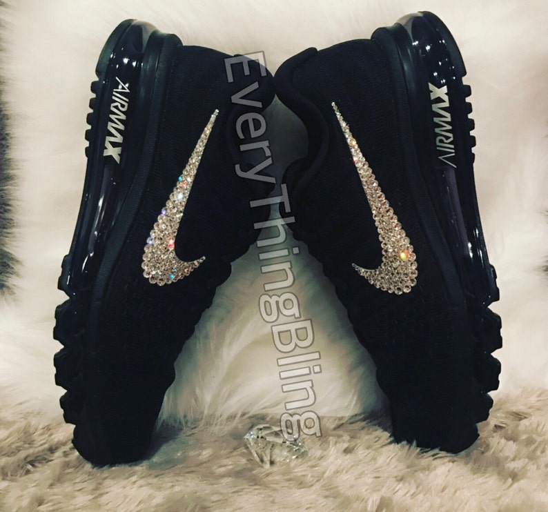 Custom Bling Nikes SWAROVSKI Clear elements bedazzled NIKE  8e54420432
