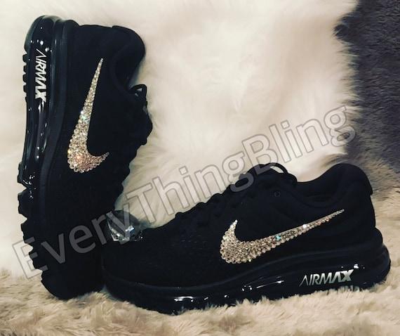 349505dcfe2162 Custom Bling Nikes SWAROVSKI Clear elements bedazzled NIKE