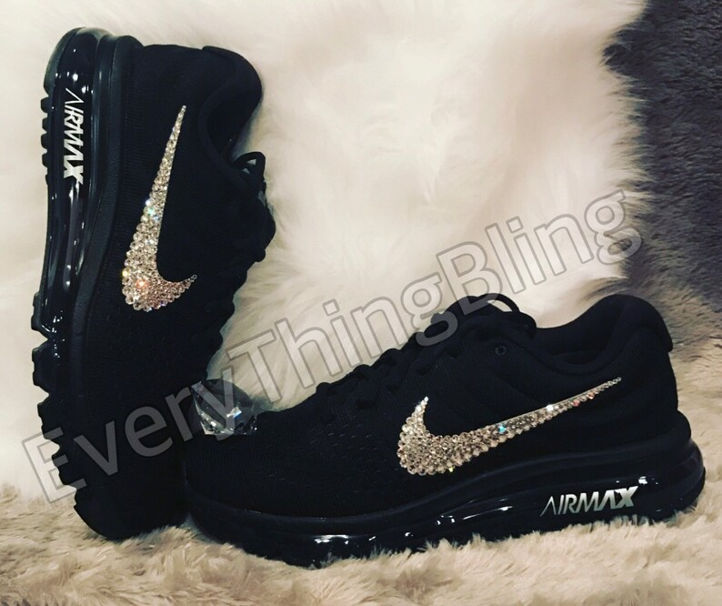 Custom Bling Nikes SWAROVSKI Clear elements bedazzled NIKE  8ee72f6014