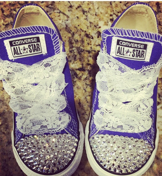 8e97e5f6f36e Swarovski Elements on CONVERSE all star Chuck Taylors-Low Tops