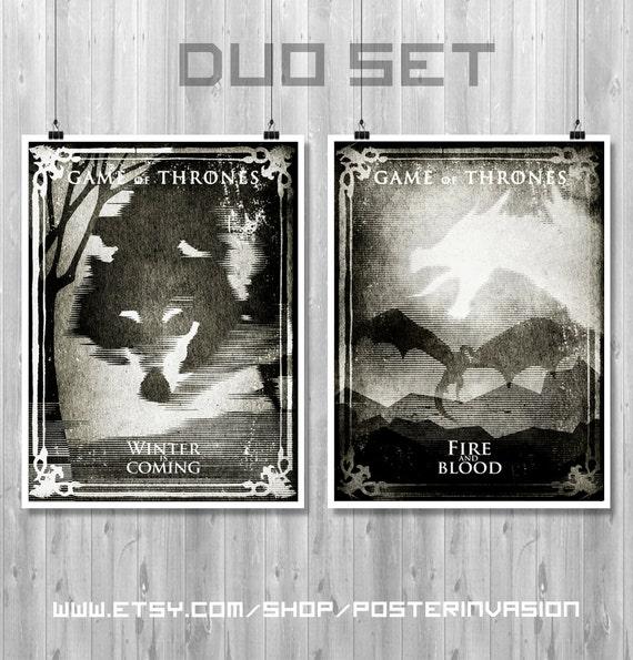 Game Of Thrones Serie Cartel Decor 02 Poster A3 Juego de Tronos Ned Stark