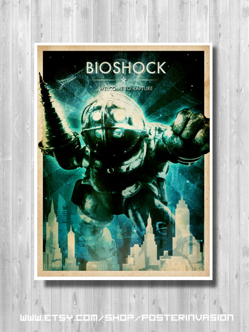 BIOSHOCK Big Daddy poster BioShock Infinite Welcome to  afc1fb03602f