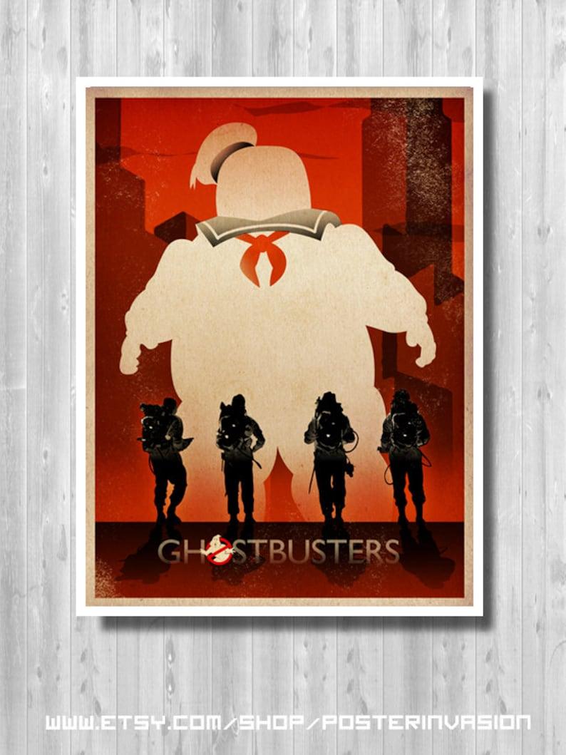 Ghostbusters Movie Digital Art Poster Print T1208 A4 A3 A2 A1 A0|