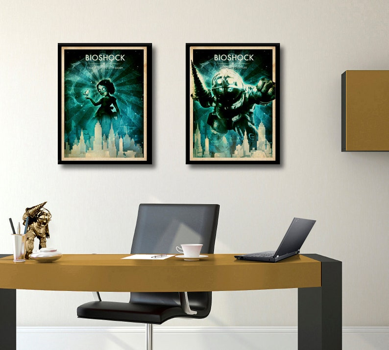 BIOSHOCK poster set Big Daddy poster Welcome to Rapture  a2784a8a594b