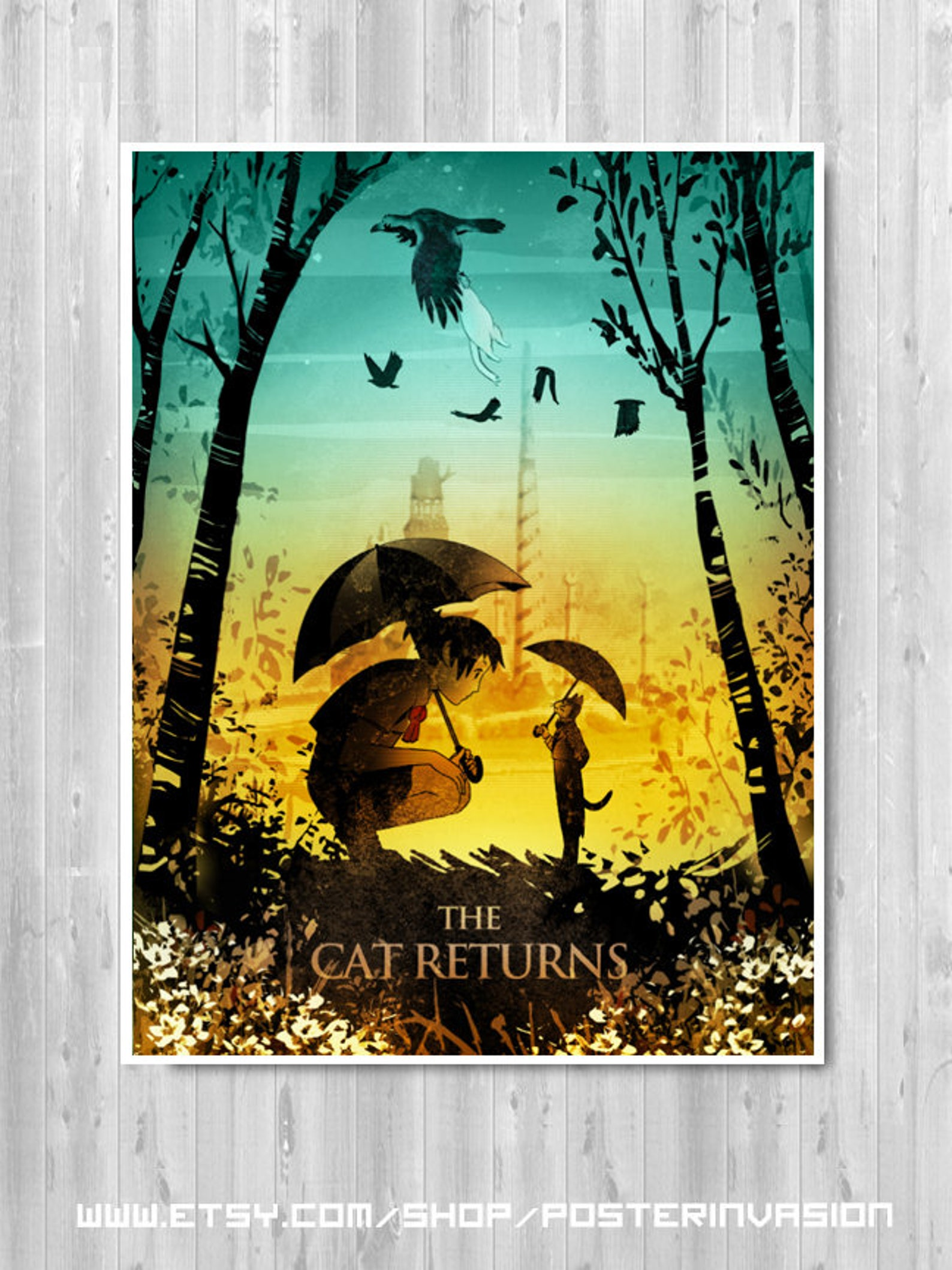 The Cat Returns Poster, Studio Ghibli, Minimalist Movie poster