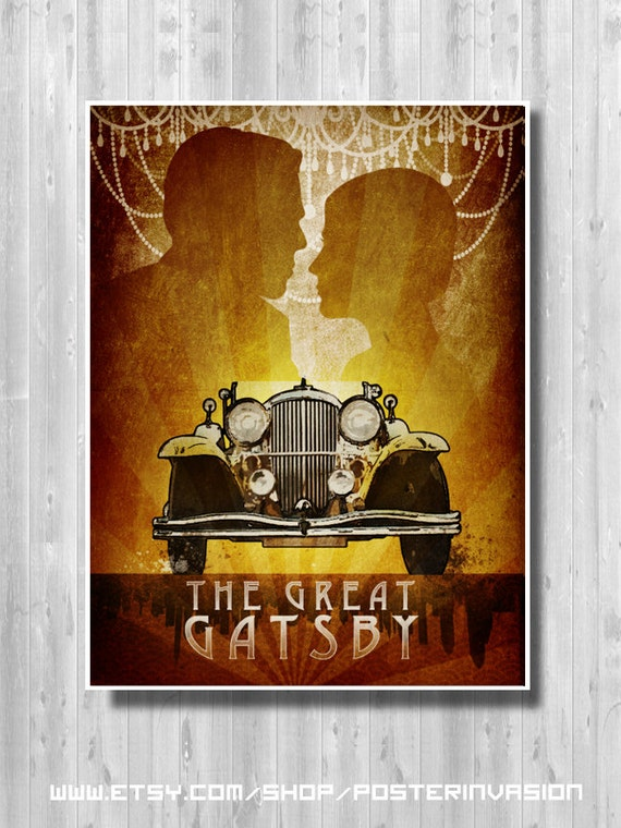 GG02 VINTAGE THE GREAT GATSBY by F SCOTT FITZGERALD POSTER A2 PRINT
