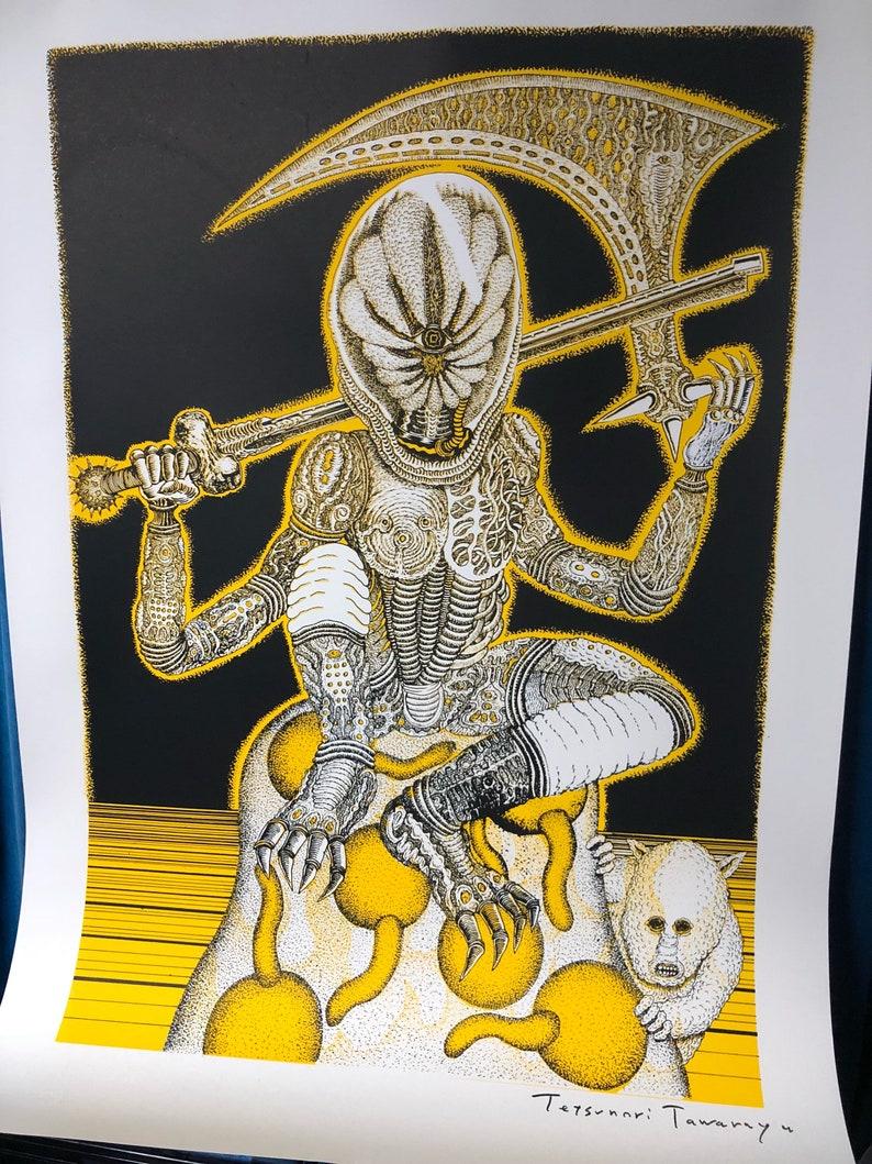 One eye warrior Silkscreen A1 poster printed by Le Dernier Cri image 0