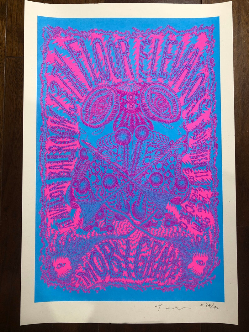 70s revival gig poster Screenprints 2 color 11x17 Limited of image 0