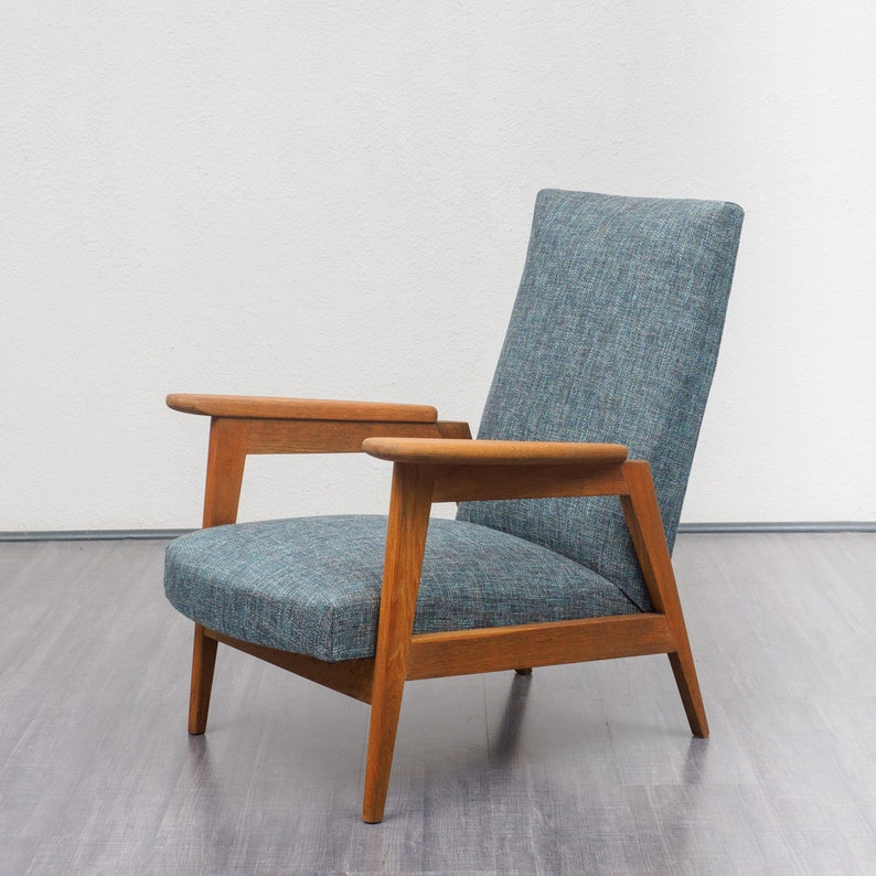Restaurierter 50er Jahre Sessel Aus Frankreich Eiche