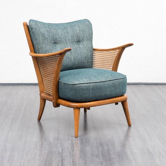 50er jahre sessel mit wiener geflecht restauriert zwei etsy. Black Bedroom Furniture Sets. Home Design Ideas