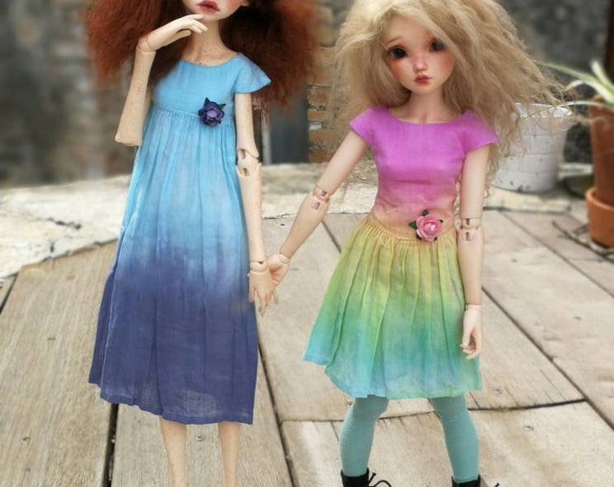 Dress handmade (sewing and dyeing) for Bjd 1/4 (minifee)
