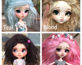 Wig tibetan sheep for pullip, blythe, taeyang, isul etc. Size 8', 9' or 10'
