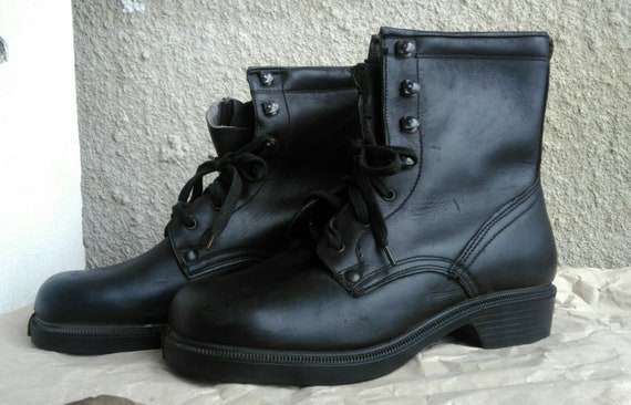 Leather Unisex boots, Combat boots, Military mens