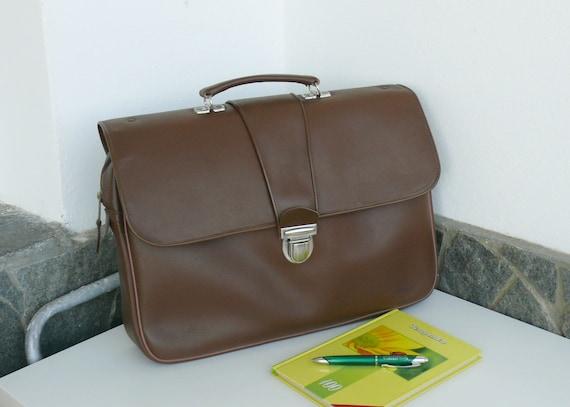 Vintage Doctors Bag, Briefcase leatherette bag, 19