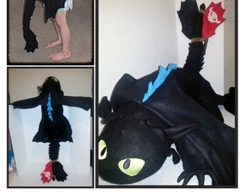 """Huge 48"""" Toothless Plush based on the HTTYD series"""