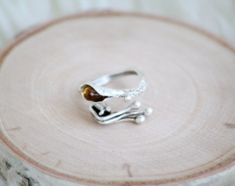 Cala Lilith Ring with Citrine