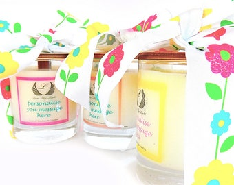Personalized scented soy candle, thank you gifts, Gift for her, appreciation gifts, Birthday gift for her, pretty candle, floral candle
