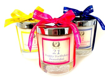 21st Birthday scented candle, birthday gift for 21st, Gift for daughter, sister, Best friend, girlfriend, boss, 21st birthday gift for her