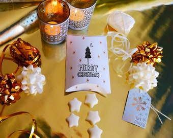 Christmas wax melts, Great christmas stocking filler gift for her or secret santa gift, hand poured with ecosoya wax with christmas scents
