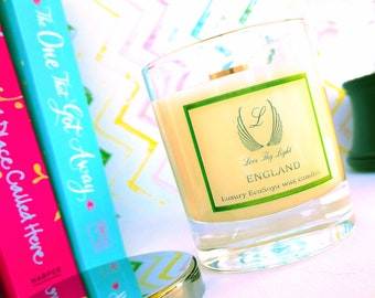 Country Fireside scented soy candle gift , Birthday gift for her or him, Hand poured with ecosoya wax with a wood wick