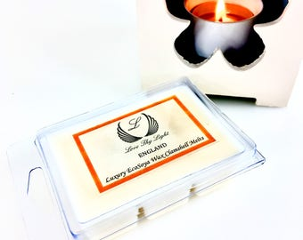 Salted Caramel & Pistachio wax melts, hand poured with ecosoya wax, Fab great little gift for christmas or birthday, highly scented wax melt