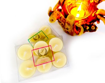 Coconut & Honey scented tea lights, handmade with Luxury Ecosoya wax, Great christmas gifts for her or stocking filler gifts