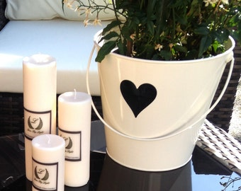 Unscented thin pillar candles, Hand poured natural ecosoya candles in a set of 3, Luxury handmade vegan gift for christmas or birthday