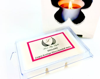 Vintage Gardenia scented wax melts,Hand poured with ecosoya wax, Birthday gift for her, stocking filler, clamshell wax melts, floral melts