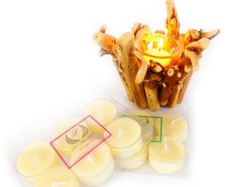 Gooseberry & Elderflower scented tea light candles handmade with Luxury Ecosoya wax,night lights, Birthday gift fir her, nan, mum, sister