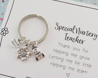 Nursery teacher gift etsy thank you nursery teacher keepsake gift negle Images