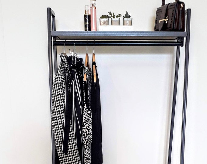 Industrial style clothes rail