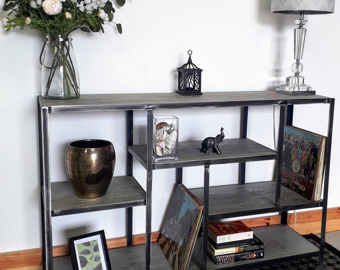 Industrial style shelving/media unit