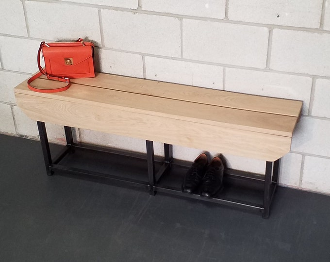 Retro Style Oak Bench Seat
