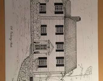 Custom Ink House Drawing