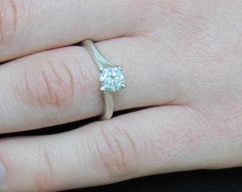 Solid Gold Moissanite Ring, Real Moissanite Ring, Super Brilliant Ring, Anniversary Ring, Engagement Ring, Bling Ring, Wedding Ring