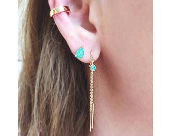 Solid Gold Ear Cuff, Adjustable Ear Cuff, Gold Ear Cuff, Non Pierced Ear Cuff, Ear Wrap, Ear Cuff Non Pierced
