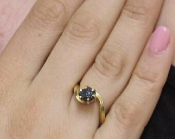 Real Black Diamond Ring, Rough Diamond Ring, 1.50 Carat Uncut Diamond Ring, Black Diamond Ring, Raw Black Diamond Ring, Engagement Ring