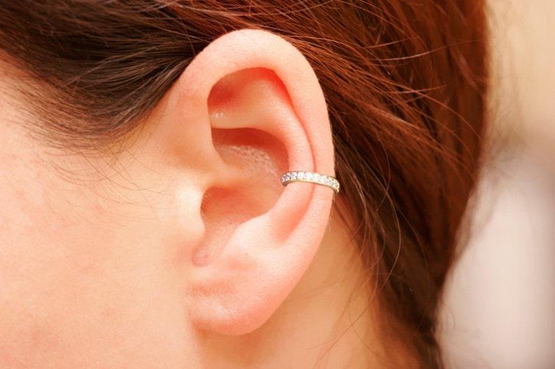 17bec94b6 Handmade Ear Cuff CZ Pave Ear Cuff 18K Gold Vermeil Non   Etsy