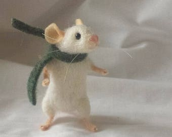 PDF PATTERN FILES Little white mouse Needle Felt animal no sew - intermediate - The Wishing Shed